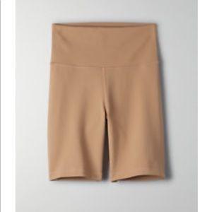 "Aritzia tna super high rise 7"" bike shorts nwot"